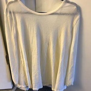 Free People Scoop-back  thermal long sleeve